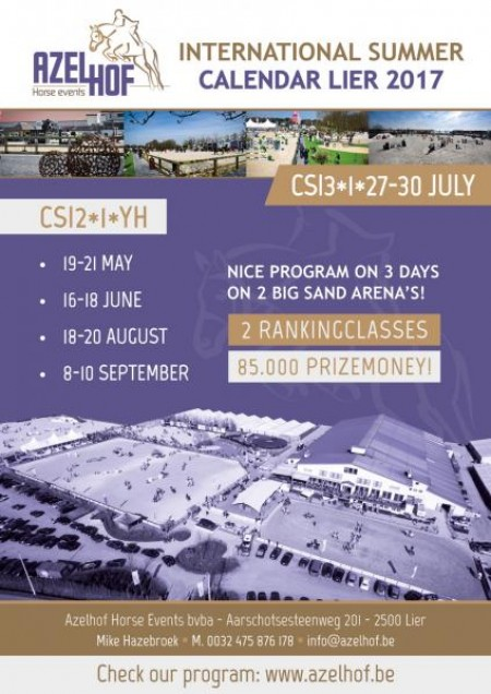 SCHEDULE CSI2*1*YH LIER 16-18 JUNE