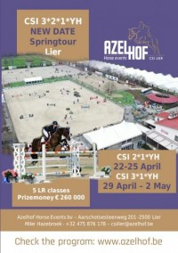 NEW DATE SPRINGTOUR CSI3*2*1*YH LIER