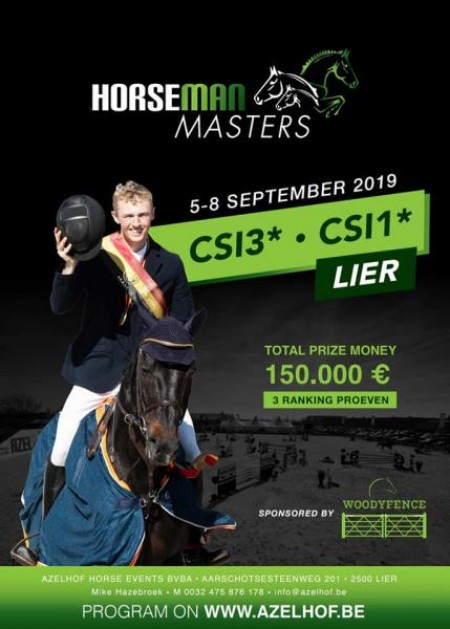 NEW SCHEDULE HORSEMAN MASTER CSI3*1* LIER 5-8 SEPTEMBER